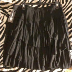 INC ruffled skirt